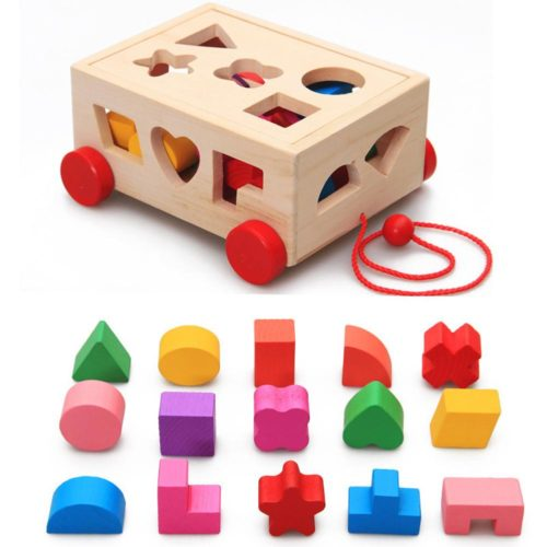 Shape Sorter Toy Wooden Blocks