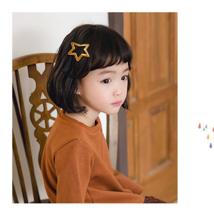 Star Hair Clips Kids Styling Accessories