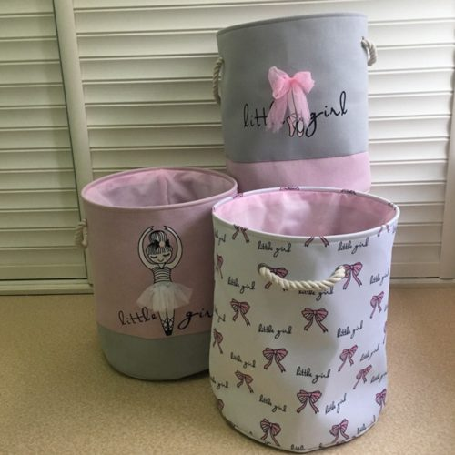 Girls Laundry Hamper Storage Container