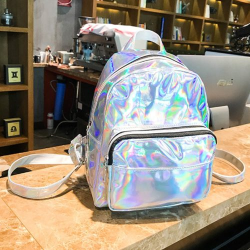 Holographic Backpack Leather Bag