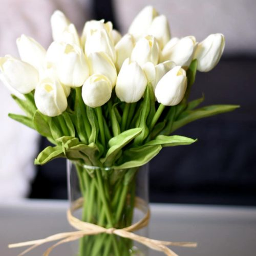 Artificial Tulips Decorative Flowers 10pcs