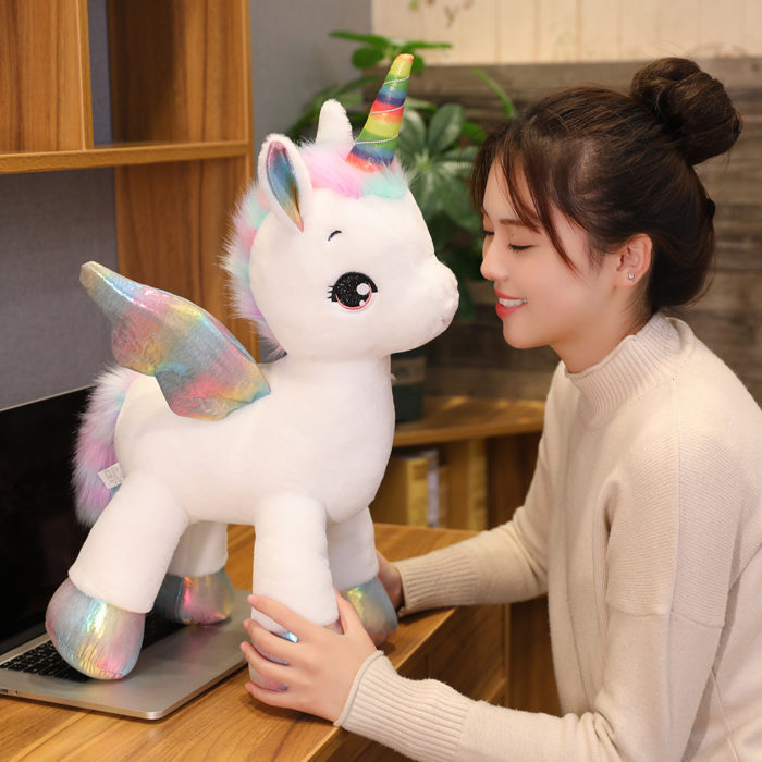 Unicorn Soft Toy Rainbow Wings