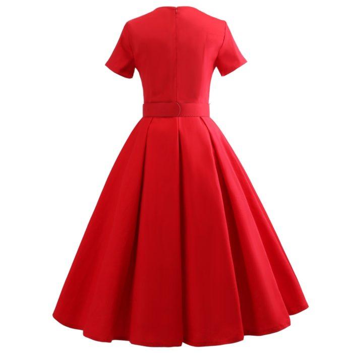 Vintage Style Dress With Belt