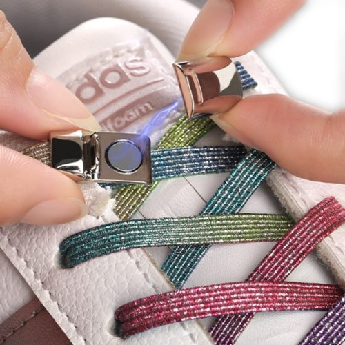 Elastic Laces No Tie Shoelaces with Magnet Lock