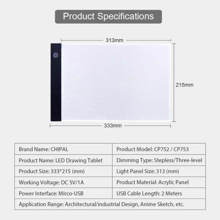 LED Drawing Board Graphic Pad