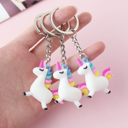 Unicorn Keychain Cute Keyring