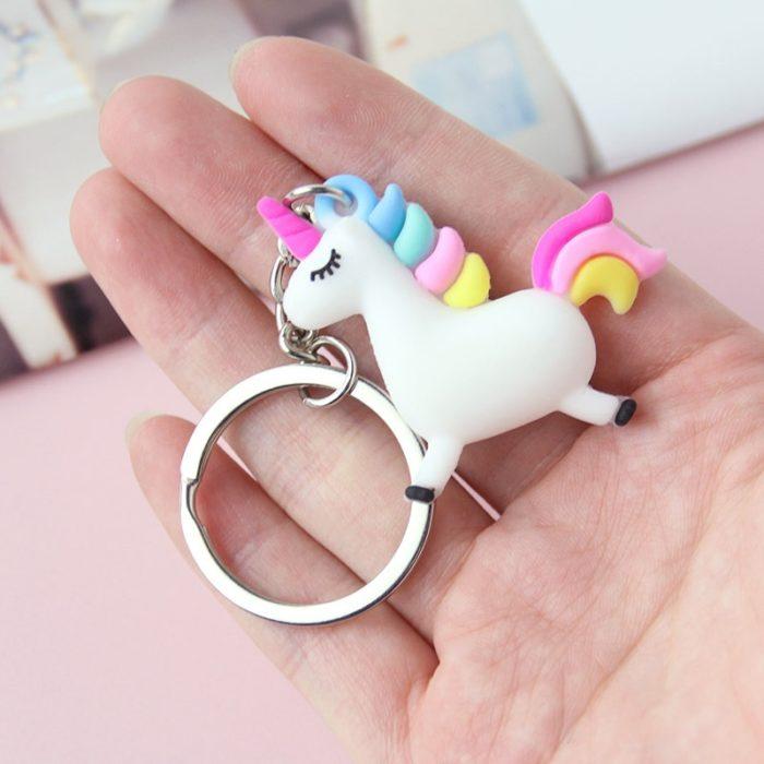 Unicorn Keychain Cute Keyring
