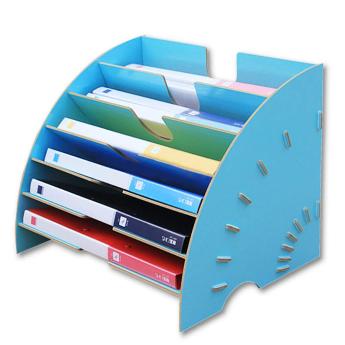 Desk File Organizer Storage Rack