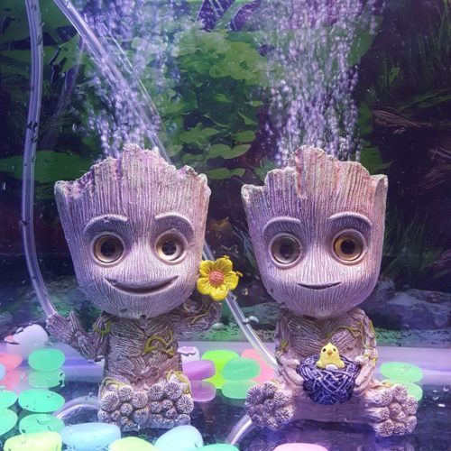 Aquarium Decor Cartoon Figure