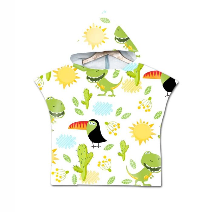 Let your child use this Hooded Beach Towel for kids with a dinosaur pattern! This is a handy towel for kids. It can help them dry up as they come out of the water.