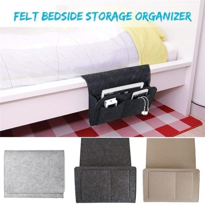 Bed Caddy Bedside Storage Organizer