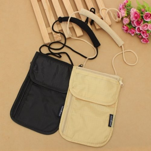 Neck Pouch Mini Travel Wallet