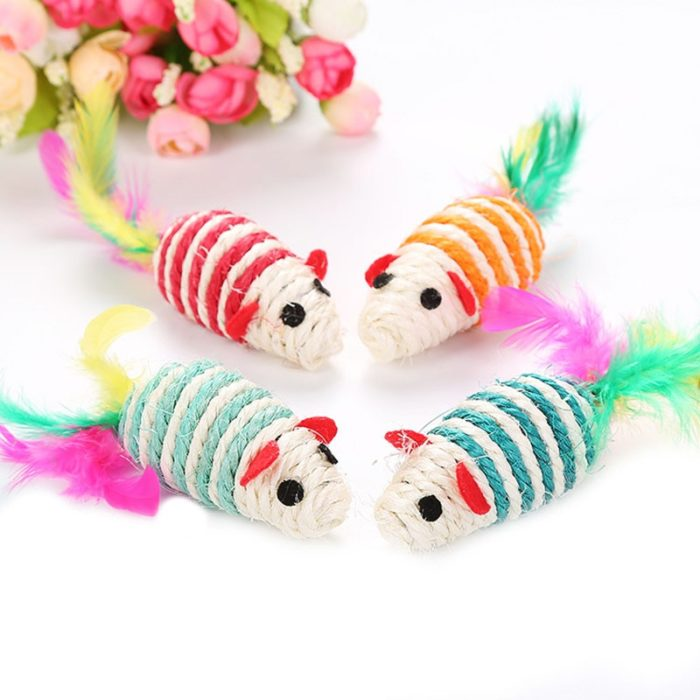 Mouse Cat Toy Sisal Scratching Toy