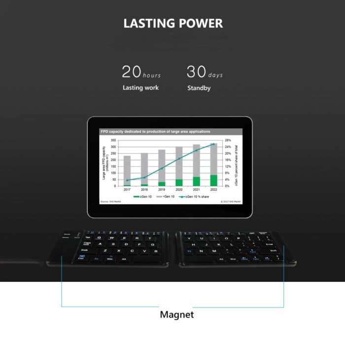 Foldable Bluetooth Keyboard Ultrathin Device