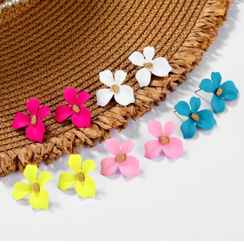 Floral Earrings Ladies Accessory