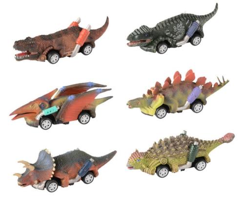 Dinosaur Cars Vehicle Car Set (6 pcs)