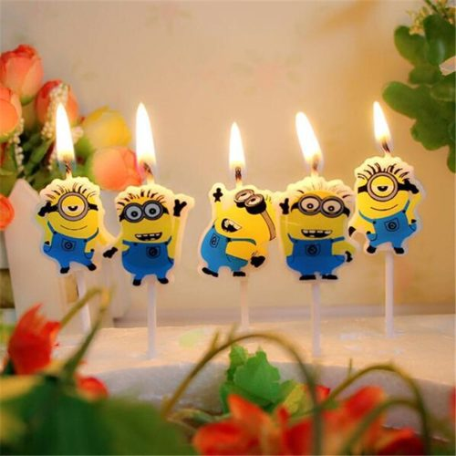 Cartoon Candles Party Supplies 5pcs/lot