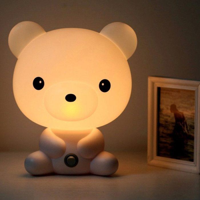 LED Bedside Lamp Cute Night Light