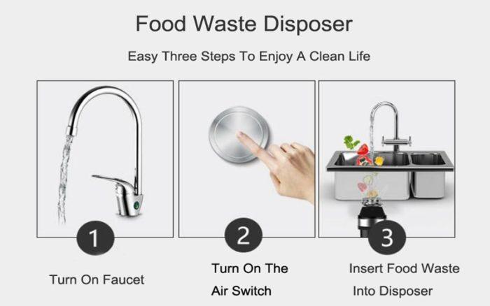 Sink Grinder Waste Disposal Machine