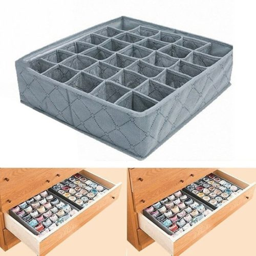Underwear Drawer Organizer 30-Grid Storage