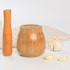 Wooden Mortar and Pestle Kitchen Tool