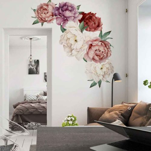 Peony Wall Sticker Decorative Material