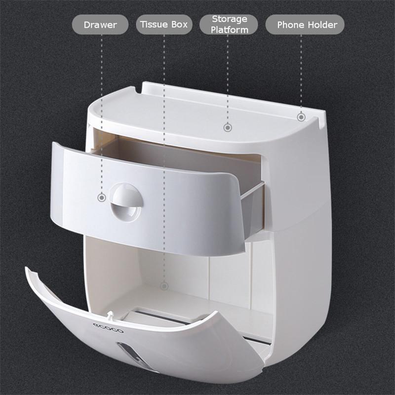 Bathroom Toilet Paper Holder Wall Mount