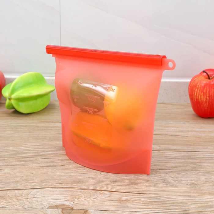 Reusable Silicone Bags Leak-proof Storage