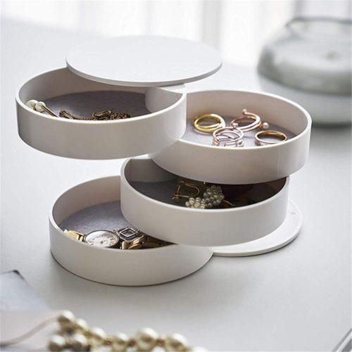 Modern Jewelry Box 4-Layer Organizer