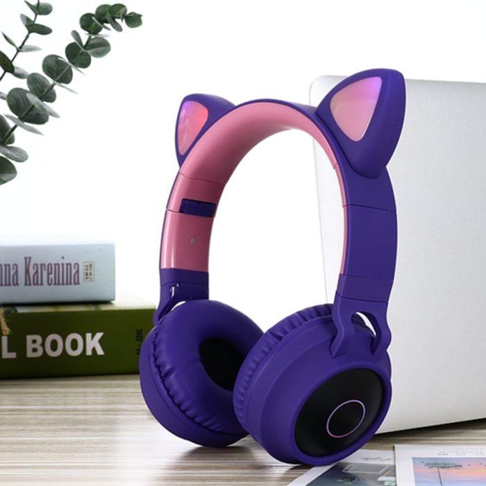 Cat Ear Headset LED Bluetooth