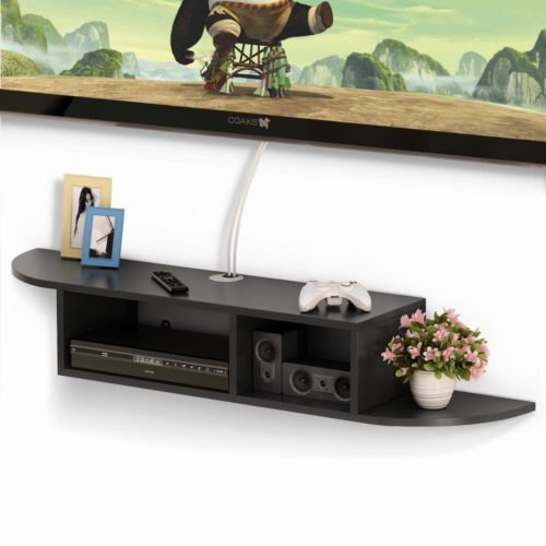 Floating Media Shelf 2-Tier Wall Shelf
