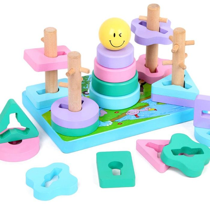 Stacking Toys Kids Wooden Shapes