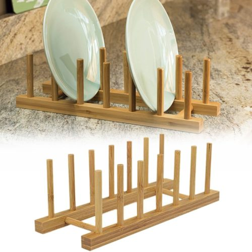 Bamboo Dish Rack Plate Drainer