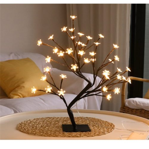 Night Table Lamp Cherry Blossom Tree