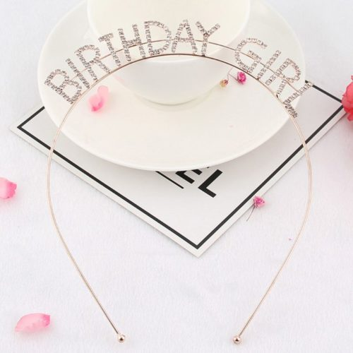 Hair Hoops Birthday Girl Headband