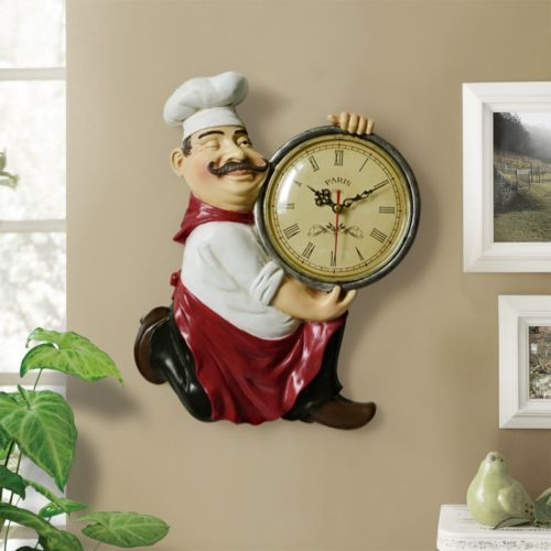 Vintage Wall Clock Chef Design