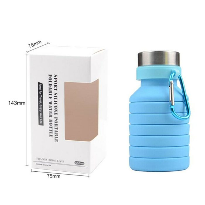 Collapsible Bottle Silicone Water Tumbler