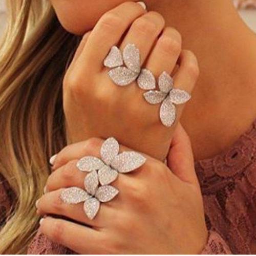 Flower Ring Elegant Party Rings