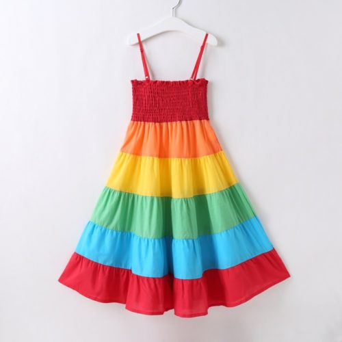 Colorful Dress Girls Casual Wear