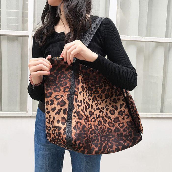 Leopard Print Bag Fashion Handbag