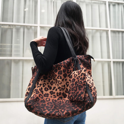 Leopard Print Bag Fashion Handbag