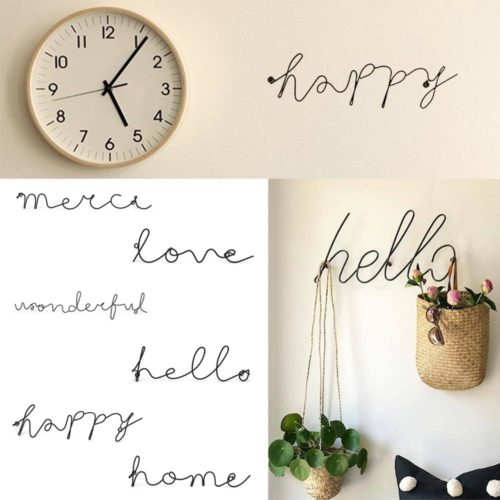 Hanging Wall Letters Nordic Decor