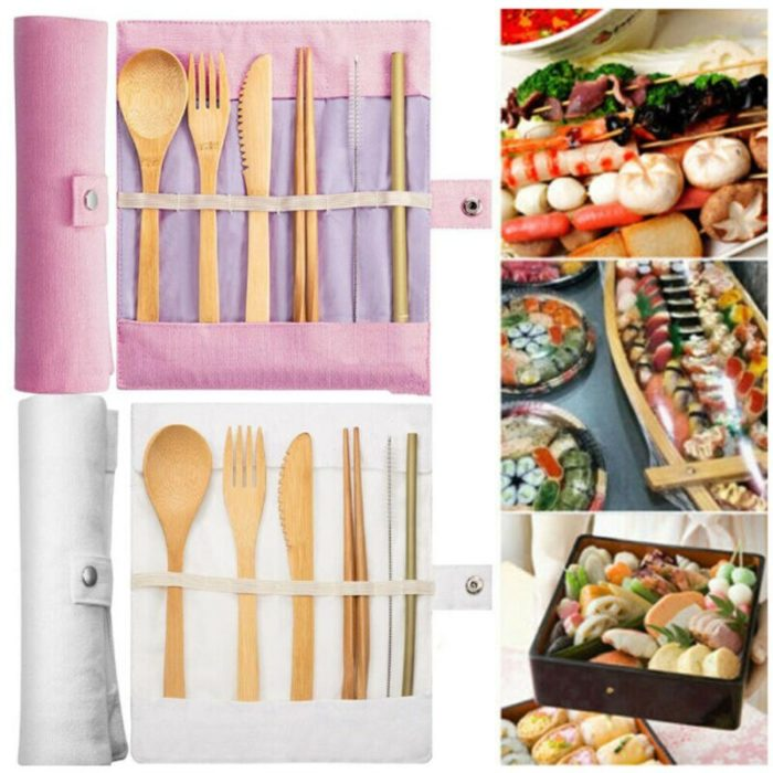 Bamboo Cutlery Set Eco-friendly Utensils