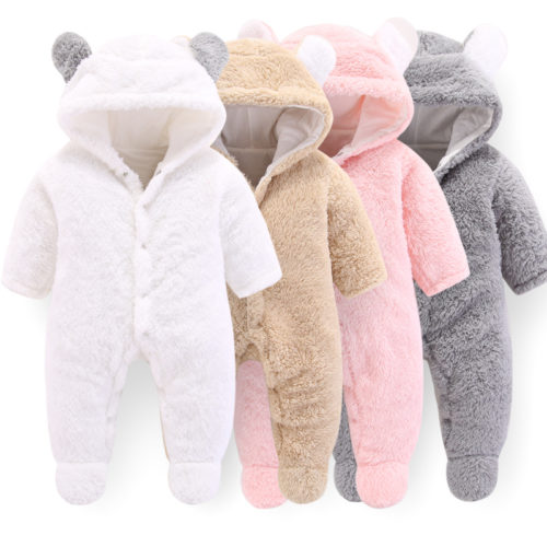Baby Winter Jumpsuit Cotton Romper