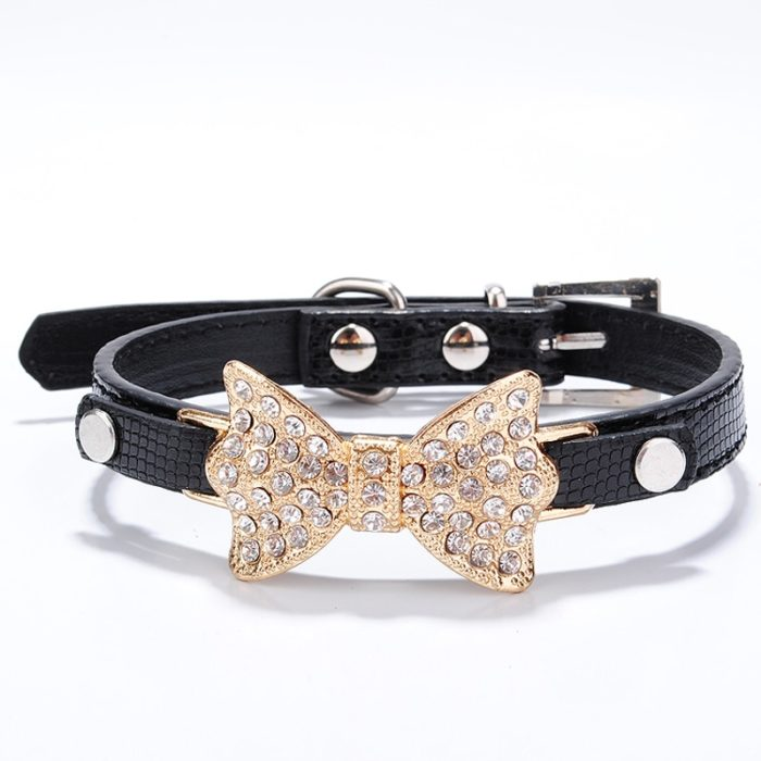 Rhinestone Dog Collar Leather Belt