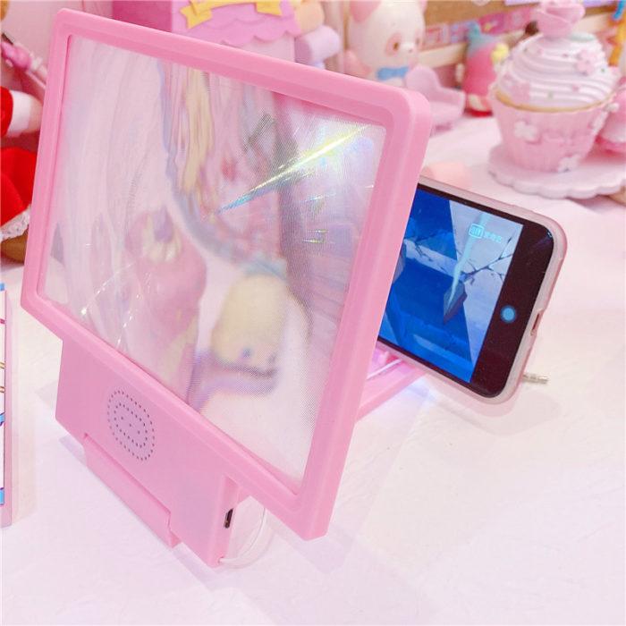 Phone Screen Enlarger Girly Pink