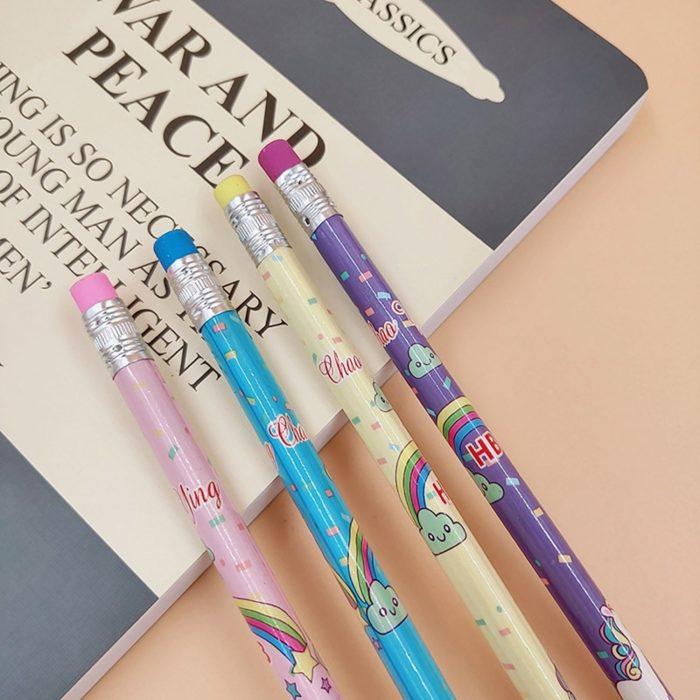 Unicorn Pencils Cute Wooden Pencils