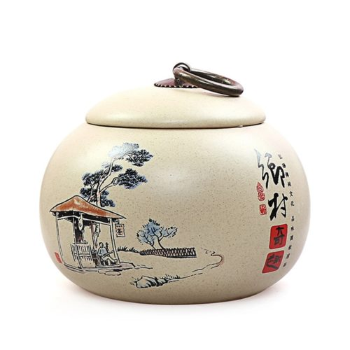 Tea Caddy Ceramic 350mL Pot