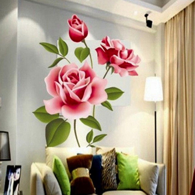 Flower Wall Sticker Artistic Style