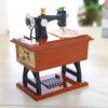 Vintage Music Box Sewing Machine Design